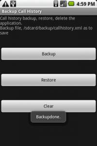 android backup call log