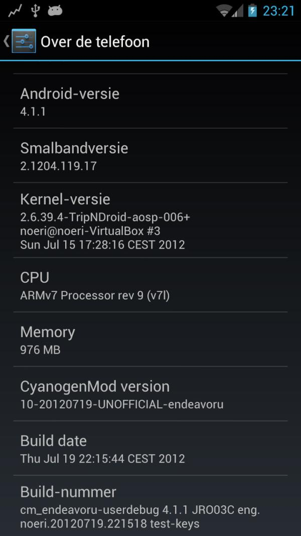 Android 4.1 jelly bean on HTC One X