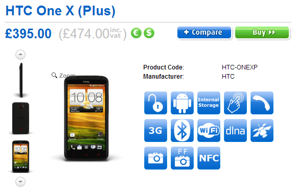 Preorder HTC One X+ in UK