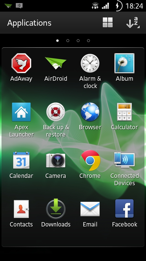 Launcher Manually Update Sony Xperia U ST25 To Ice Cream Sandwich Firmware 6.1.1.B.1.10