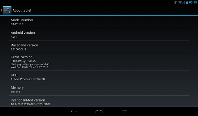 cGOu5 Get CyanogenMod 10.1 Android 4.2.1 Jelly Bean on your Samsung Galaxy Tab 2 (P3100/P3110/P3113)
