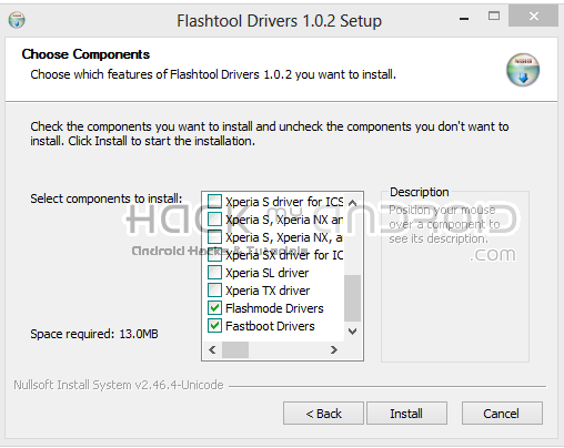 FlashTool Drivers Update Sony Xperia Go To Official Android 4.1 Jelly Bean Manually