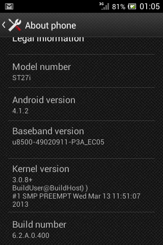 DQfFwvd Update Sony Xperia Go To Official Android 4.1 Jelly Bean Manually