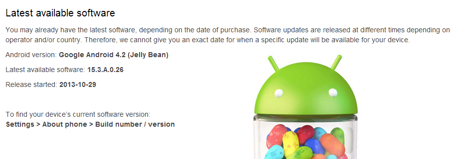 Xperia L Android 4.2 15.3.A.0.26 Sony Rolls out Android 4.2 For Xperia L, Download Now