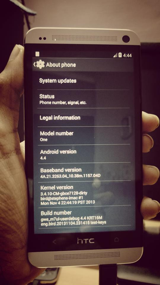 Android 4.4 HTC One Android 4.4 KitKat AOSP ROM for HTC One International, T Mobile and AT&T