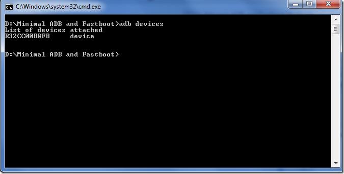ADB and Fastboot windows