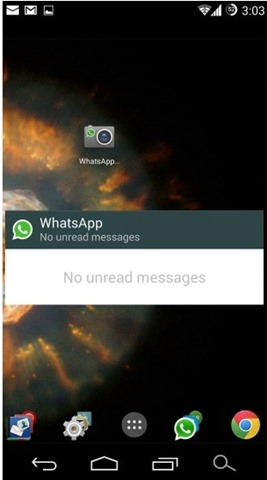 WhatsApp update widgets