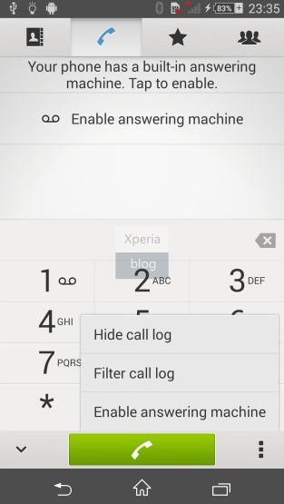 Answering machine Xperia