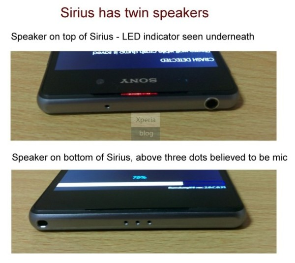 Dual Speakers Xperia Z2