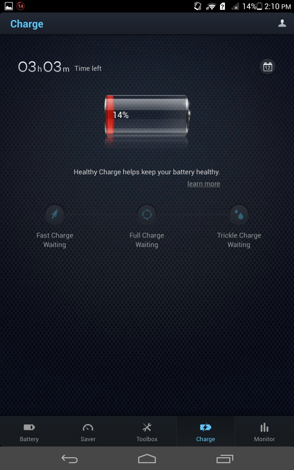 Du Battery Saver - Home screen